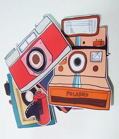 Retro Camera Sticker Pack