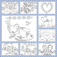A Haven for Vee: Embroidery Patterns~Mosaic Monday