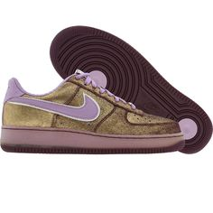 Game day shoes. Nike Womens Air Force 1 07 Low Premium (aubergine / orchid mist) 315186-551 - $99.99