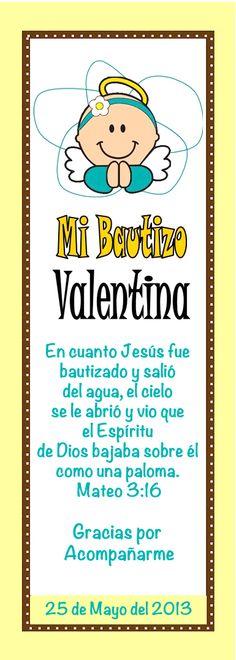 Separador Bautizo Valentina, by jenny