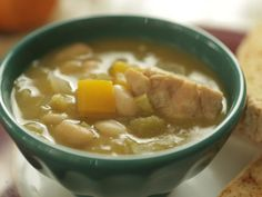 Get Roasted Chicken White Chili Recipe from Food Network