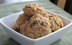 Mom's Oatmeal Raisin Cookies Mix 3/4 c butter, 1 egg, 1/4 c milk. Add 1c brown sugar, 1/2 c granulated sugar, 1c flour, 1c raisins, 3c quick oats, 1/2t soda, vanilla, cinnamon, cloves, ginger. Drop dough onto papered cookie sheet. Bake until bubbles around edges disappear. Cool on brown paper.