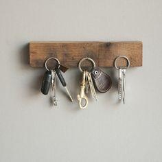 Magnetic Wooden Key Rack.