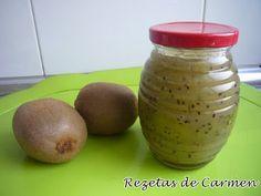 Recetas caseras : Mermelada de kiwi Salsa Dulce, Kiwi, Preserves, Mason Jars, Potatoes, Sweets, Chutneys, Canning, Vegetables