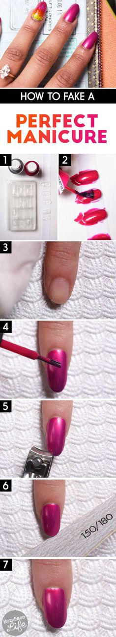 This Is The Most Fool-Proof Trick For People Who Suck At DIY Manicures for Emergencies