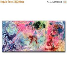 ❘❘❙❙❚❚ ON SALE ❚❚❙❙❘❘ ORIGINAL Abstract Painting, Large Contemporary Fine Colorful Modern Painting SIZE : 48 x 24 x 1.58 (HIGH GLOSS FINISH) TITLE : Modernization 4 This Contemporary abstract modern painting was painted on gallery wrapped acid free canvas. Only fine quality