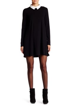 Collared Long Sleeve Sweater Dress by Very J on @nordstrom_rack