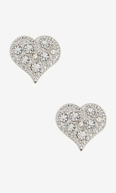 Nordstrom Rack Pave Heart Stud Earrings
