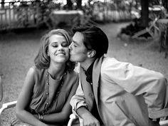 Jane Fonda and Alain Delon,1964