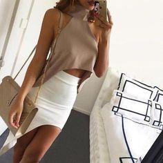 Moda-Verano-Mujeres-Informal-Sin-mangas-Prendas-para-el-torso-Camiseta-Blusa-Sin-mangas-Crop-Tops