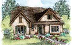 European Cottage with Expansion Possibilities - 42349DB | Architectural Designs - House Plans