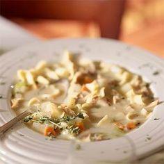 Roasted-Chicken Noodle Soup Recipe   MyRecipes.com