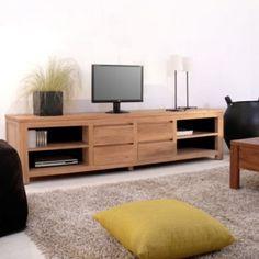 1000 images about meubles en teck on pinterest tvs for Meuble tv 110 cm teck