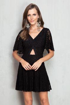 vestido renda triângulo cintura | Dress to