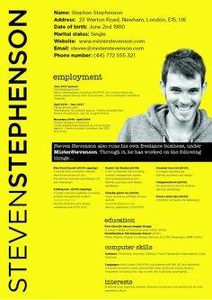 28 amazing examples of cool and creative resumes cv pinterest