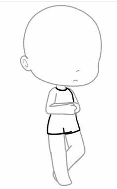 Cute Eyes Drawing, Drawing Base, Hand Drawing Reference, Anime Poses Reference, Kawaii Drawings, Cute Drawings, Chibi Body, Drawing Anime Clothes, Drawing Body Poses