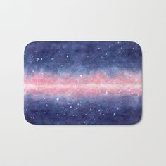 Watercolor Space Bath Mat   #faerieshop #watercolor #space #galaxy #universe #stars #painting #cosmos #purple #night #cosmic #starry #milky #way #art #shopping #buyonline #society6 #bathroom #decor #decoration #home #bathmat #mats