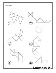 Animals Outline Solution Tangram Card #2