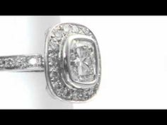 A video of a beautiful eternity ring.
