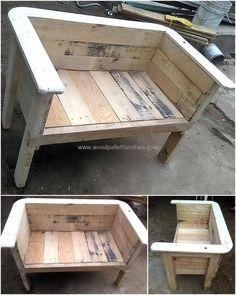 recycled wood pallet bench #woodworkingideasproject #woodenpalletfurniture