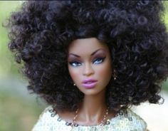 Natural hair barbie tangereina. Love the concept but hate the stereo typical ghetto fab name