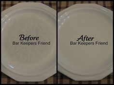 How to get scratches off white dishes