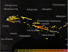 """Large hail fell across portions of TX, LA, MS and AL on 3/17/2016. 3"""" hail was detected in TX and up to 4"""" hail in a portion of Mississippi. Strong to severe thunderstorms will develop later today as the low pressure system and cold front dive down towards the Gulf Coast. The strongest storms should begin to form during the afternoon in Central Texas and continue south and eastward through the day. The front will be  faster than the real action, but a few individual supercell…"""
