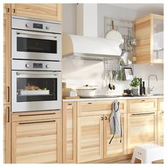 SMAKSAK stainless steel, Microwave combi with forced air - IKEA Kitchen Oven, Kitchen Worktop, Kitchen Cabinets, Kitchen Appliances, Laminate Wall Panels, Combi Oven, Four Micro Onde, Stainless Steel Oven, Ikea Home