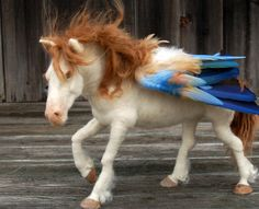 Needle Felted Pegasus by SarafinaFiberArt on Etsy