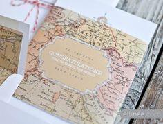 Tarjetas de agradecimiento de mapas