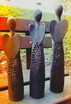 Anděl Noci / Zboží prodejce GMart - Hobbies paining body for kids and adult Ceramics Projects, Clay Projects, Clay Crafts, Ceramic Clay, Ceramic Pottery, Clay Angel, Pottery Angels, Bead Studio, Ceramic Angels
