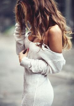 White knitted dress. Spring fall women fashion outfit clothing style apparel @roressclothes closet ideas
