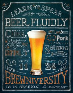 RBMM – Graphic Design Dallas, TX   Central Market Brewniversity  beer event poster