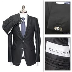 PAL ZILERI Slim Fit Black Pinstriped Suit Tuxedo  |  Go shopping! http://www.frieschskys.com/blazers-suits/suits  |  #instastyle #mensfashion #mensstyle #menswear #dapper #stylish #MadeInItaly #Italy #couture #highfashion