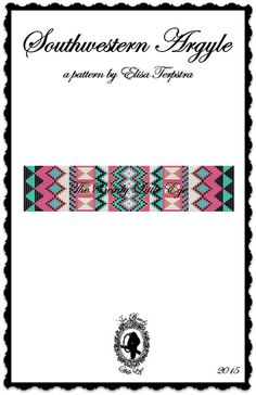 Bead Loom Pattern Seed Bead Loom Patterns Huichol Native American Southwestern Indian Geometric Southwestern Argyle Pattern