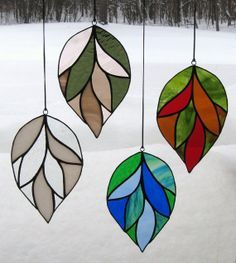 christmas deer stained glass - Google Search
