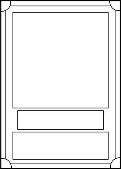 Trading Card Game Template Free Download Trading Card Template Baseball Card Template Pokemon Card Template