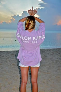 Baylor Kappa Spirit Football Jersey in Wisteria and White lettering :-)
