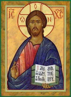 Icon of Christ the Saviour by the hand of Michael Kapeluck, Carnegie, PA.