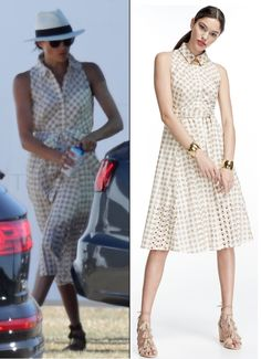 Meghan Wears Shoshanna for Polo Match – What Meghan Wore Kate Middleton adca080602