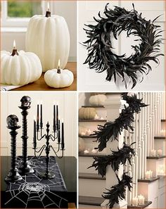 Halloween Chic...I am kind of liking the white pumpkins