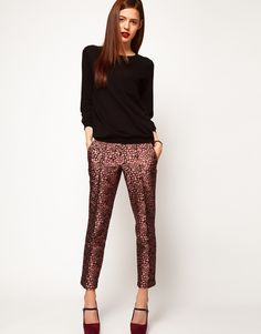 ASOS jacquard trousers