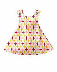 Right Bank Babies Reversible Girl's Dress Made In USA