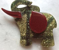 Lea Stein Paris Vintage Elephant  brooch small by DecoFashion