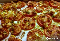 Fokhagymás-fetás sült paradicsom Vegetable Recipes, Feta, Vegetables, Drink, Beverage, Veggies, Veggies, Drinking