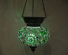 L green moroccan lantern mosaic hanging lamp glass chandelier light turkish candle holder m 55 -- Read more reviews of the product by visiting the link on the image.