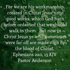 It's a finished work in Christ Jesus through His blood shed on the cross!