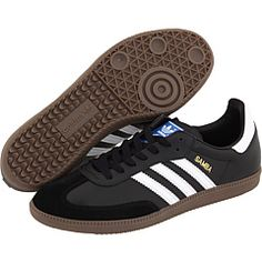 Shop for Samba Classic Shoes by adidas at ShopStyle. On Shoes, Me Too Shoes, Shoe Boots, Casual Sneakers, Sneakers Fashion, Soccer Shoes, Adidas Samba, Black Adidas, Leather Shoes