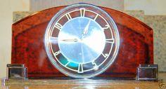 Vintage German Mauthe Art Deco desk Clock Mint Cond.