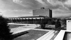 Biblioteca de la Universidad de Anahuac, av. Universidad Anáhuac, Lomas Anáhuac, Huixquilucan, Estado de México, Mexico 1965 Arq. Imanol Ordorika - Library of the University of Anahuac, Lomas Anahuac, Huixquilucan, State of Mexico, Mexico 1965